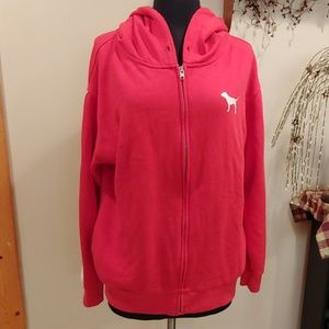 VS Pink zip up hoodie S